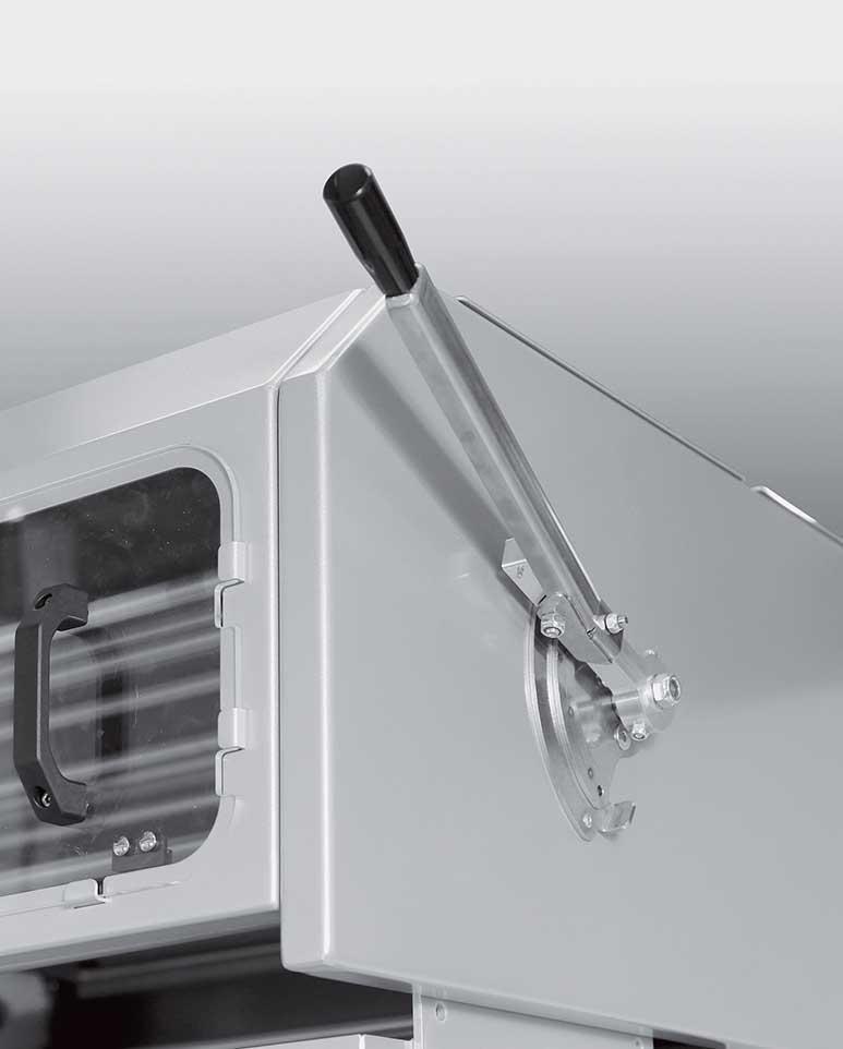 Levier latéral permettant d'utiliser la capacité totale de la balancelle