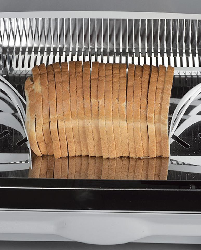 Maintien du pain à la sortie pour faciliter la prise en main
